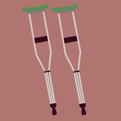 illustrations of crutches