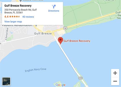 Gulf Breeze Recovery Map