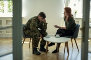 someone gets help by seeking addiction treatment for veterans